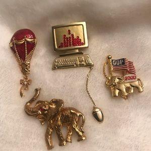 Jewelry - Set of 4 unique pins!!